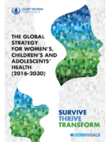 Global Strategy for Women's, Children's & Adolescents' Health (2016-2030)