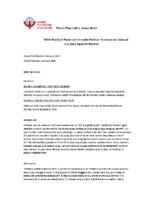 WPA Intimate Partner Violence and Sexual Violence Against Women Position Paper